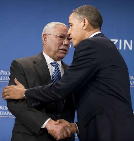 Colin Powell y Barack Obama, juntos, otra vez. Foto: Getty Images