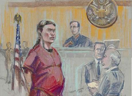 Alejandrina Giselle Guzmán Salazar se presentó el jueves en una corte federal de San Diego. Foto: Reuters en español