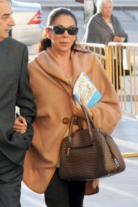 Isabel Pantoja, en la Ciudad de la Justicia de Málaga. Foto: Gtres