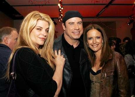 Kirstie Alley con John Travolta y Kelly Preston Foto: Getty Images