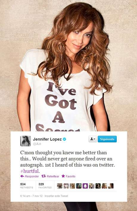 Jennifer Lopez se siente herida por lo que se dice de ella. Foto: Twitter/@JLo
