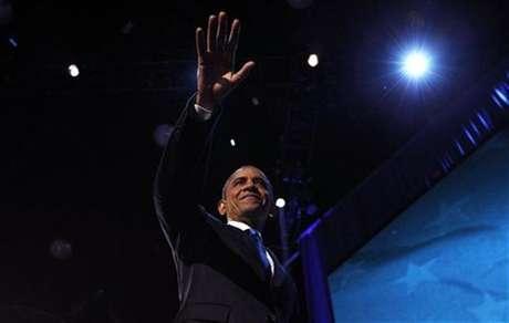 U.S. President Barack Obama celebrates after winning the U.S. presidential election in Chicago, Illinois, November 7, 2012 Foto: Jason Reed / Reuters