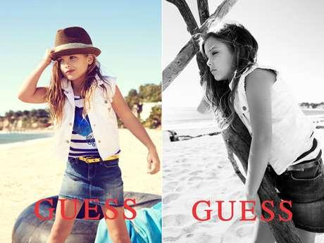 Hija de Anna Nicole Smith debuto como modelo en 'Guess' Foto: Guess
