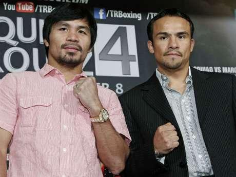Pacquiao y Márquez están a menos de  dos semanas para encontrarse en el ring por cuarta ocasión. Foto: AP