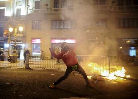 En noviembre, España, Portugal e Italia se unieron en una protesta que movilizó a millones de personas Foto: AFP