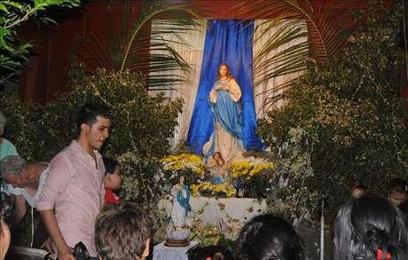 """Nicaragua celebra la popular """"Gritería"""" en honor a la Virgen de la Concepción Foto: Agencia EFE / © EFE 2012. Está expresamente prohibida la redistribución y la redifusión de todo o parte de los contenidos de los servicios de Efe, sin previo y expreso consentimiento de la Agencia EFE S.A."""