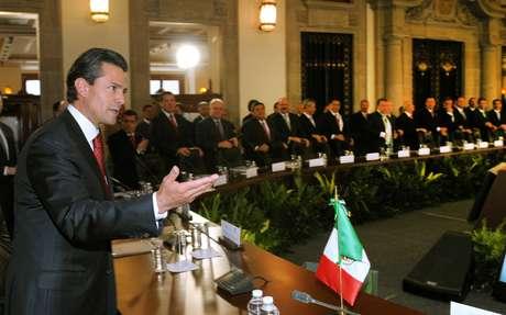 El presidente de México, Enrique Peña Nieto, durante el primer Consejo de Seguridad Nacional de su administración, en Ciudad de México. Foto: EFE en español