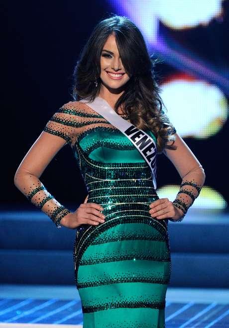 Miss Venezuela se equivocó en su respuesta y en su vestido.  Foto: Getty Images