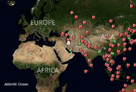Santa ya ha distribuido gran parte de los regalos en el este del mundo. Foto: NORAD.org