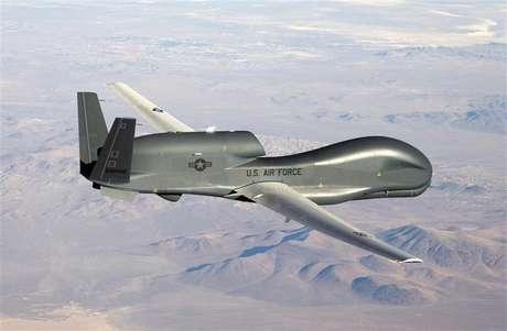 An undated U.S. Air Force handout photo of a RQ-4 Global Hawk unmanned aircraft. Foto: U / Reuters