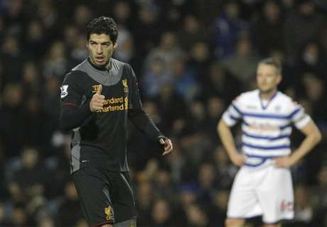 Luis Suarez scored a brace to bring his season goal tally to 13.  Foto: AP in English