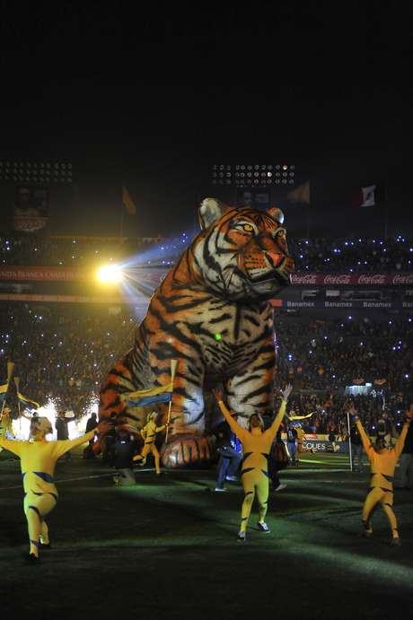 Una emotiva ceremonia tuvo el equipo de Tigres en el Clausura 2013, que después complementó con una goleada sobre Jaguares. Foto: Getty Images