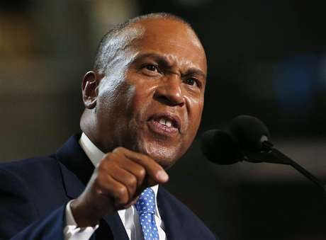 Massachusetts Governor Deval Patrick addresses the first session of the Democratic National Convention in Charlotte, North Carolina September 4, 2012. Foto: Eric Thayer / Reuters