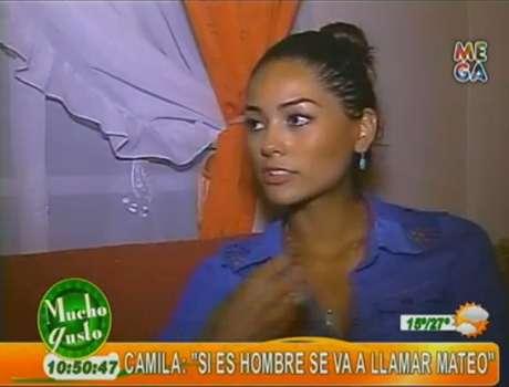 """La Miss Chile confesó su embarazo en """"Mucho gusto"""". Foto: Reproducción."""