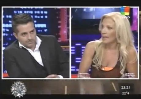 Angel de Brito y Susana Rocasalvo, cruzados en vivo Foto: Captura Tv