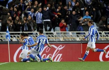 Los de San Sebastián logarron el resultado más sorpresivo, no sólo de la jornada, sino del campeonato ibérico. Foto: AFP