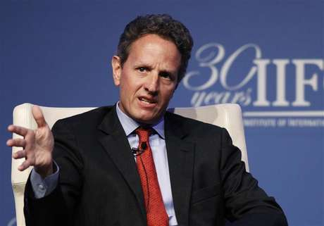 U.S. Treasury Secretary Timothy Geithner speaks at the Institute of International Finance (IIF)'s annual meeting in Tokyo October 11, 2012. Foto: Yuriko Nakao / Reuters