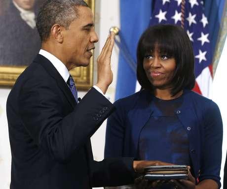 Obama jura para un segundo mandato.  Foto: AP