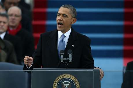 President Barack Obama marked the start of his second term with an inaugural speech at the U.S. Capitol. Foto: AP