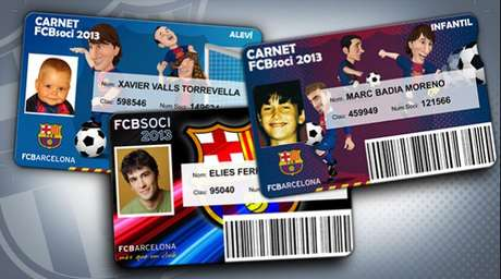 Milan Pique would have received a membership card similar to this one.  Foto: Divulgación