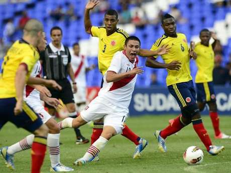 Colombia knocked off Peru to clinch a berth in the U-20 World Cup Foto: AFP