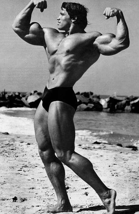 La supuesta foto muestra a un joven Arnold Schwarzenegger mientras sostiene relaciones sexuales con una mujer. Foto: Reproducción