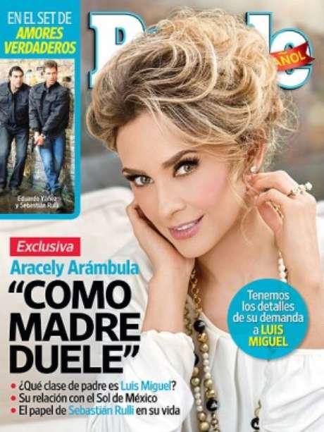 Aracely Arámbula en la nueva edición de People en Español. Foto: People En Español
