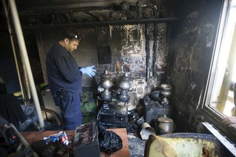 Beirut Jerusalem suffered an arson attack after ending its unofficial policy against Muslim players. Foto: Getty Images