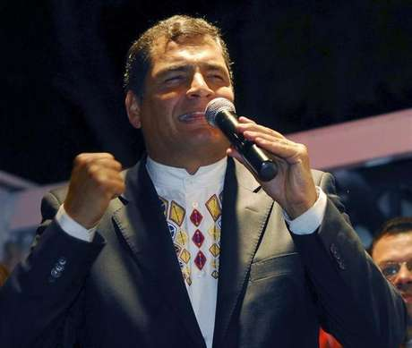 Ecuador's President Rafael Correa reacts after hearing the election results at Carondelet Palace in Quito February 17, 2013. Foto: Gary Granja / Reuters