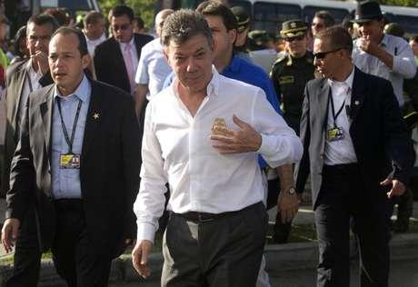Los caficultores rechazan que el presidente Juan Manuel Santos haya dicho en varias oportunidades que el paro tiene motivaciones políticas. Foto: AFP