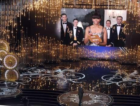 Michelle Obama anuncia Oscar a la Mejor Película Foto: Getty Images
