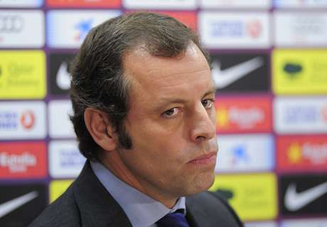 Sandro Rosell came out in the defense of his Barcelona players and the team's style.  Foto: Getty Images