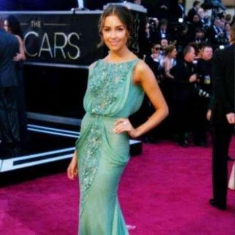 Así se vio Miss Universo sobre la alfombra roja de los Premios Oscar Foto: Twitter @MissUniverse