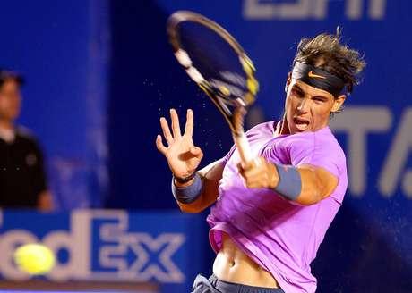 El español Rafael Nadal debutó en el Abierto Mexicano de Tenis ante el argentino Diego Schwartzman  Foto: José Méndez / EFE