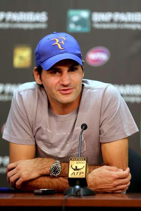 """""""Esta es una buena noticia"""", dijo Federer el jueves en una conferencia de prensa antes de su primer partido este fin de semana en el Masters 1000 de Indian Wells. Foto: AFP"""