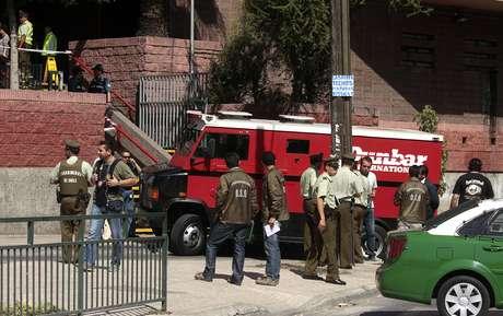 Asalto al camión de valores a la salida del Metro Pedreros. Foto: Agencia Uno