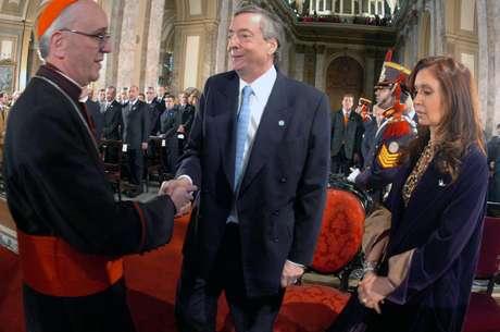 """El portavoz de Bergoglio anunció en 2005 que """"no hay relación de la Iglesia con el Gobierno"""" Foto: AFP"""