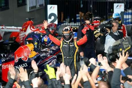 Kimi Raikkonen es el primer líder de la Fórmula 1 tras ganar el Gran Premio de Australia. Foto: AFP