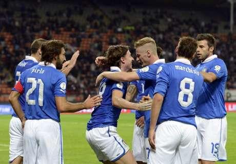 La escuadra Azzurri jugará ante Brasil en Suiza. Foto: AFP