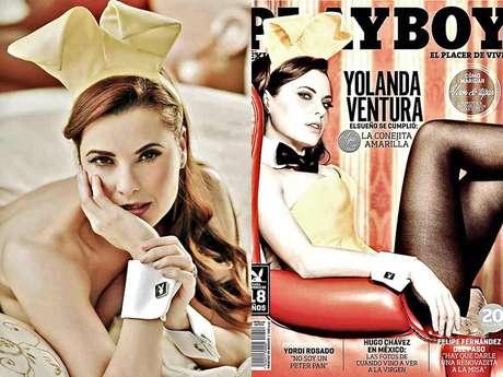 Yolanda Ventura se convirtió en la primera mujer, en la edición mexicana, en lucir el emblemático traje de conejita. Foto: Reforma / Playboy