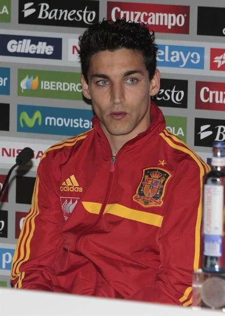 Jesús Navas, durante una rueda de prensa con la selección española Foto: EFE en español