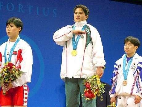 Soraya Jiménez, fue la primera atleta mexicana en ganar una medalla de Oro en unos Juegos Olímpicos, en Sydney 2000. Foto: AFP
