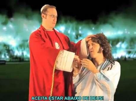 """La Cumbia papal en respuesta a la de """"Sin codificar"""" Foto: Captura video"""