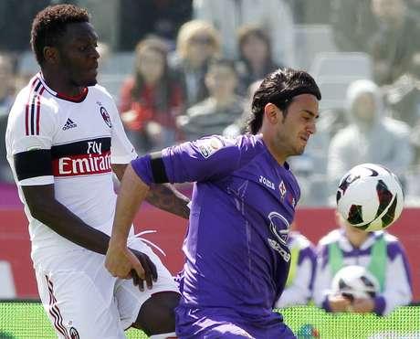 Fiorentina se vio abajo 2-0 con un hombre menos pero logró empatar. Foto: AP