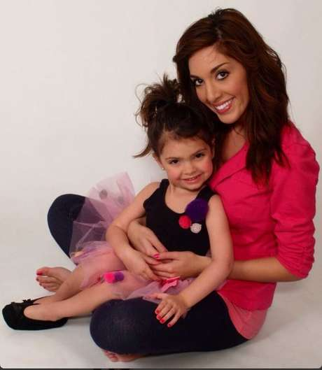 'Teen Mom' star Farrah Abraham with her four-year-old daughter, Sophia. Foto: Twitter/Farrah Abraham