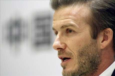 David Beckham had announced in January that he would donate his salary. Foto: Agencia EFE / © EFE 2013. Está expresamente prohibida la redistribución y la redifusión de todo o parte de los contenidos de los servicios de Efe, sin previo y expreso consentimiento de la Agencia EFE S.A.