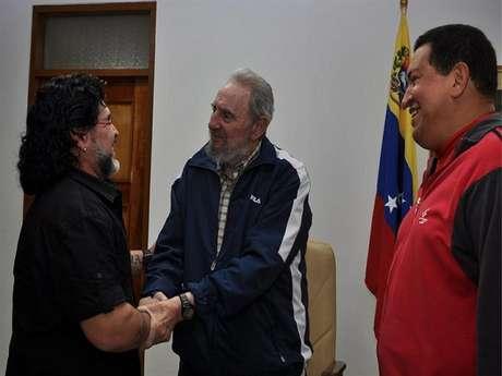 Huga Chávez, Fidel Castro y Diego Maradona Foto: terra