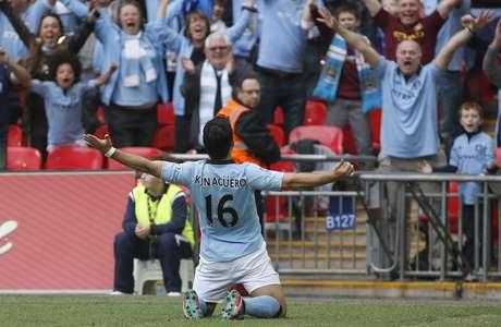 Agüero consiguió el segundo gol para su escuadra. Foto: AP Images