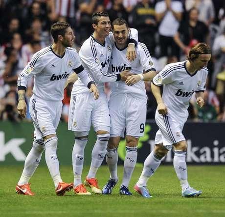 Cristiano Ronaldo anotó el primero de sus dos goles a los 70 segundos, en el triunfo 3-0 sobre Athletic. Foto: EFE