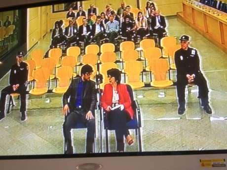 Falciani, declarando ante el juez. Foto: Terra